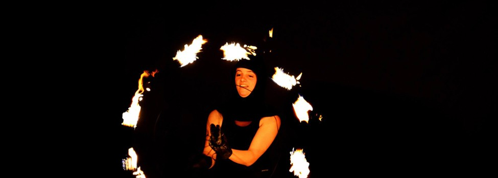 Feel the fire - an interactive fire happening