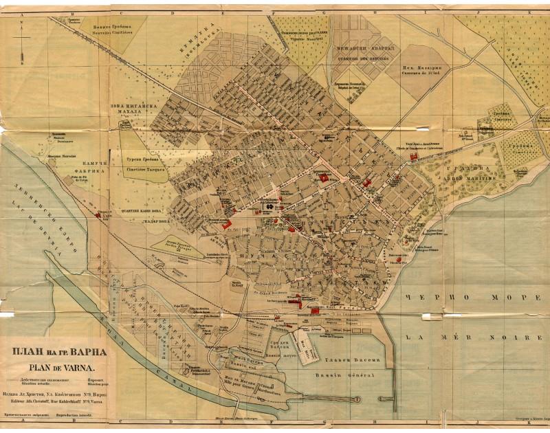Варна - карта от 1923 г.