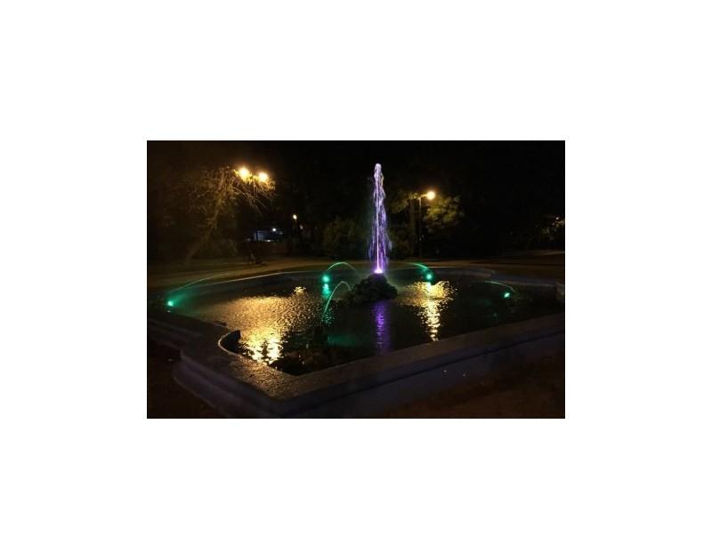 La fontaine avec les grenouilles