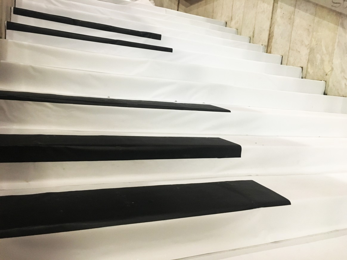 Piano stairs in Varna