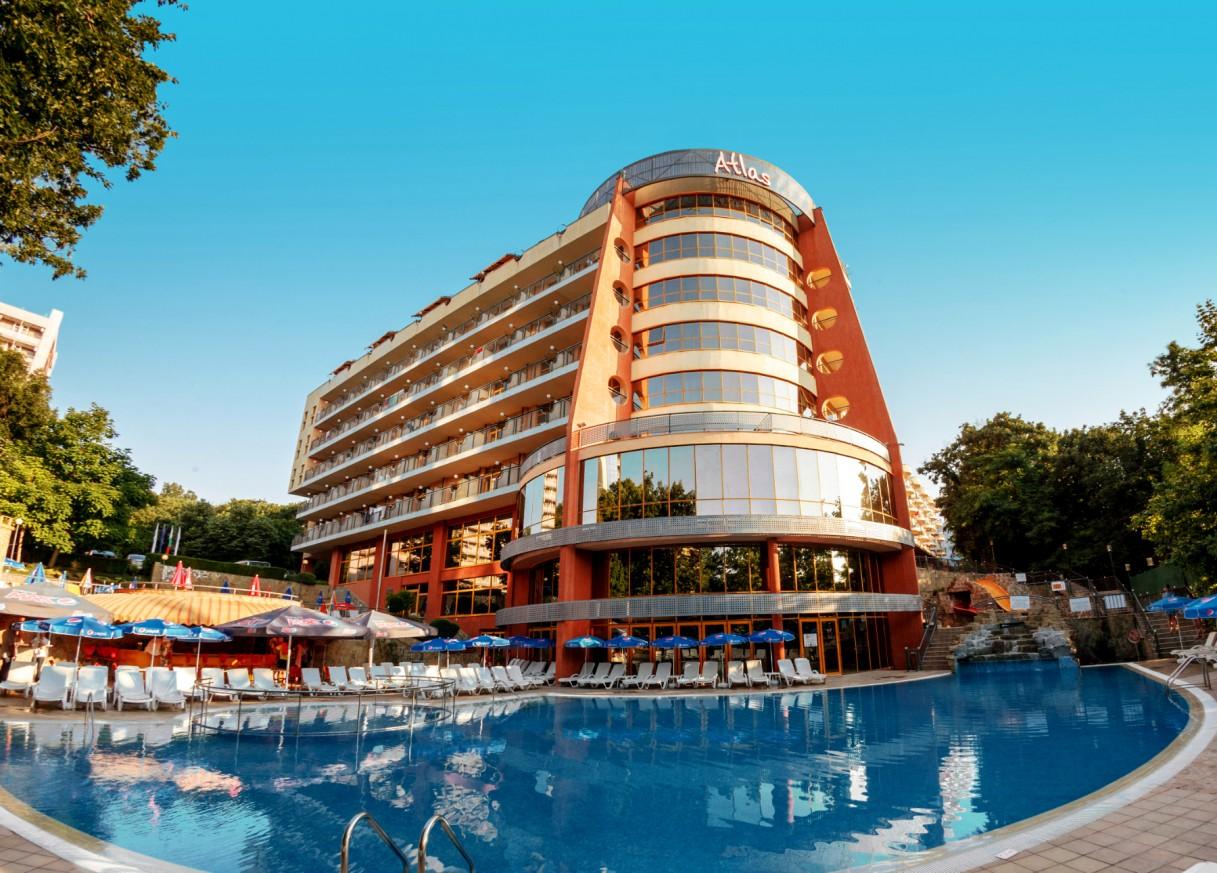 Оферта за настаняване в хотел Атлас, к.к. Златни пясъци  в периода 01.08. - 30.09.2019