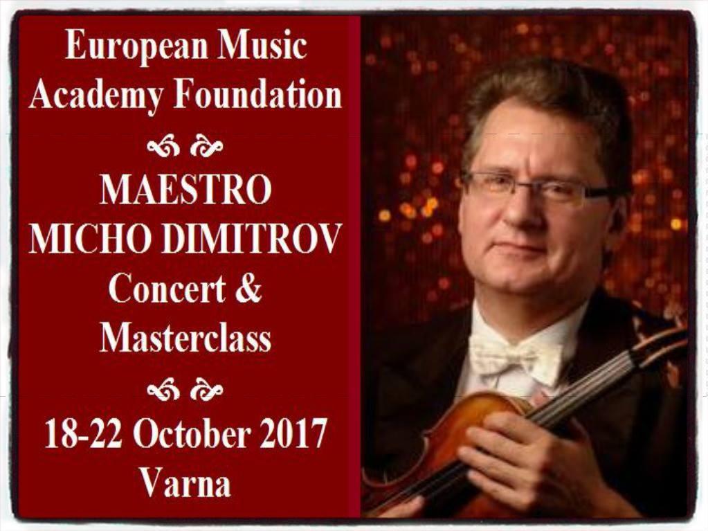 Masterclass with Maestro Micho Dimitrov