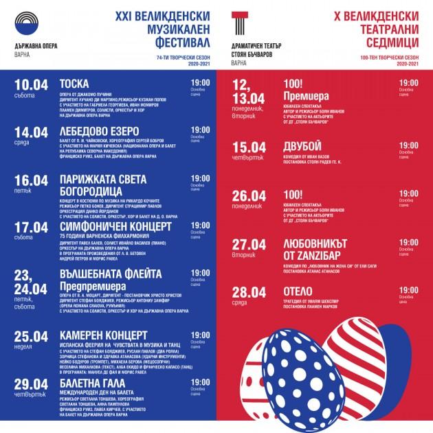 """Програма м. април, Драматичен театър """"Стоян Бъчваров"""" - X Великденски театрални седмици"""