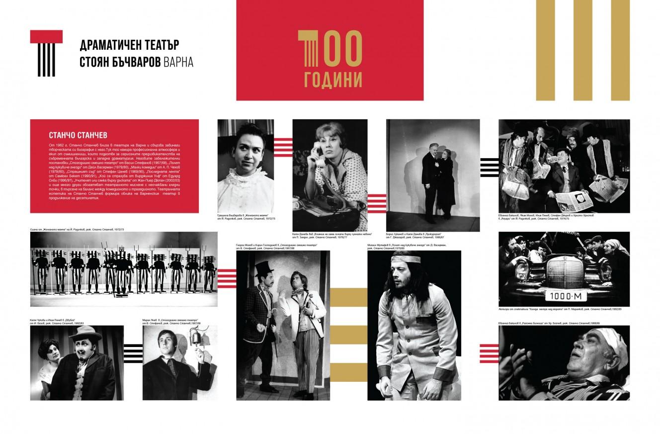 """Документална изложба """"2021 - 100 години Драматичен театър Варна"""""""