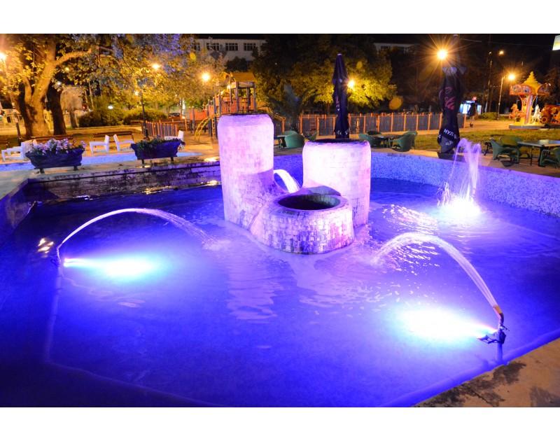 La fontaine sur la place Saborni