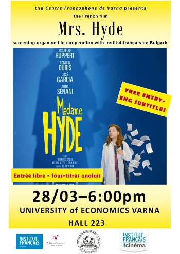 Projection du film Madame Hyde