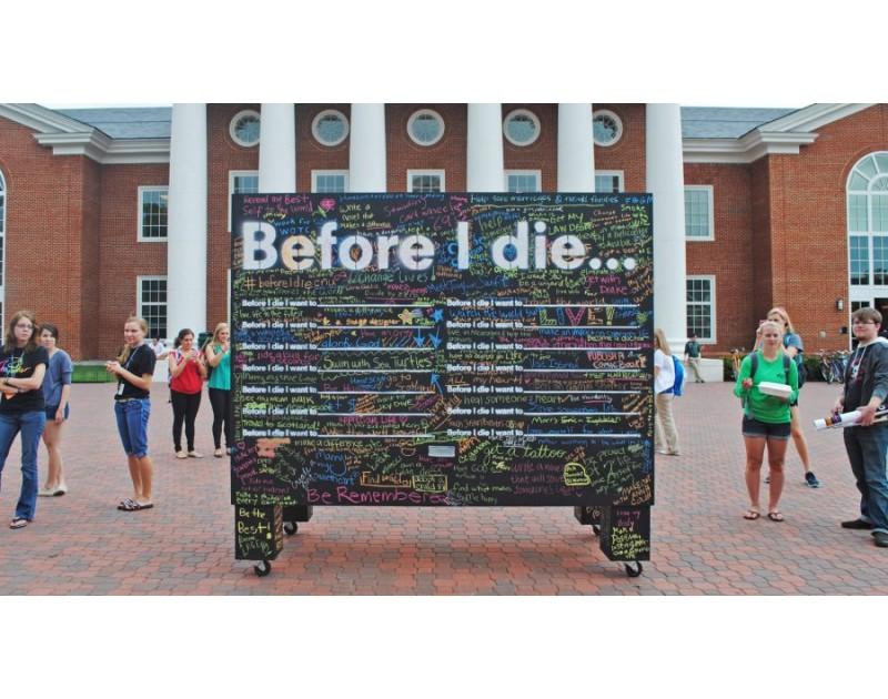 Стена Before I Die/Прежде чем я умру, я хочу.../