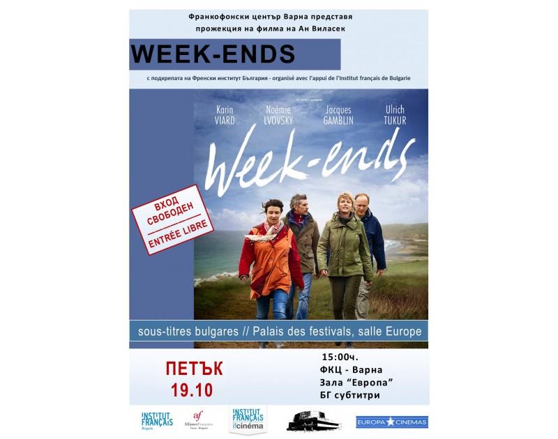 Projection du film  Week-ends