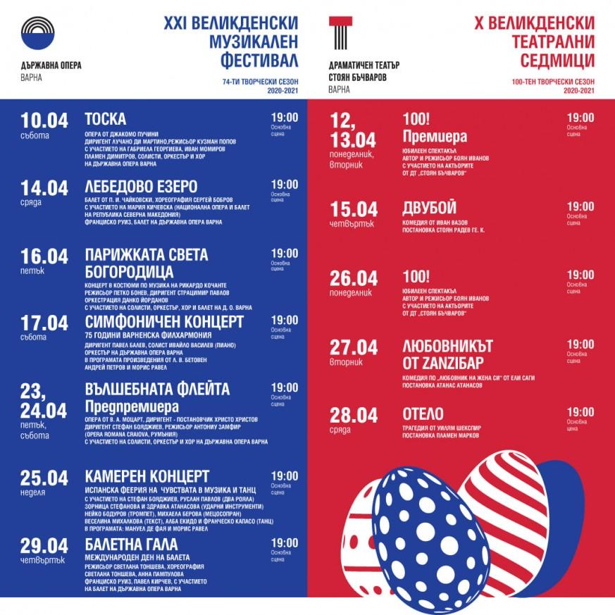 Програма м. април, Държавна опера Варна - XXI Великденски музикален фестивал