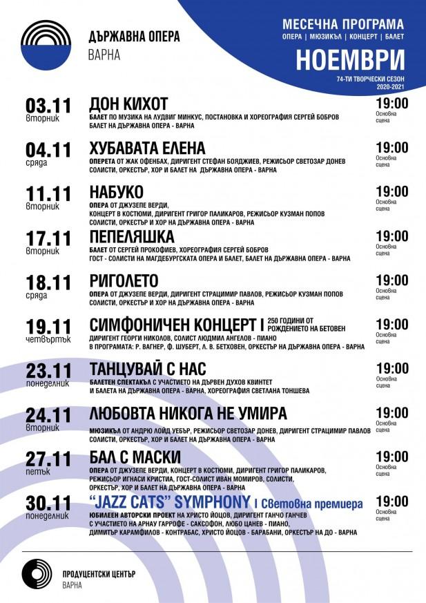 Програма м. ноември, Държавна опера Варна