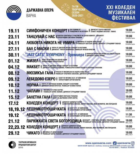 Коледен музикален фестивал / Международен балетен форум